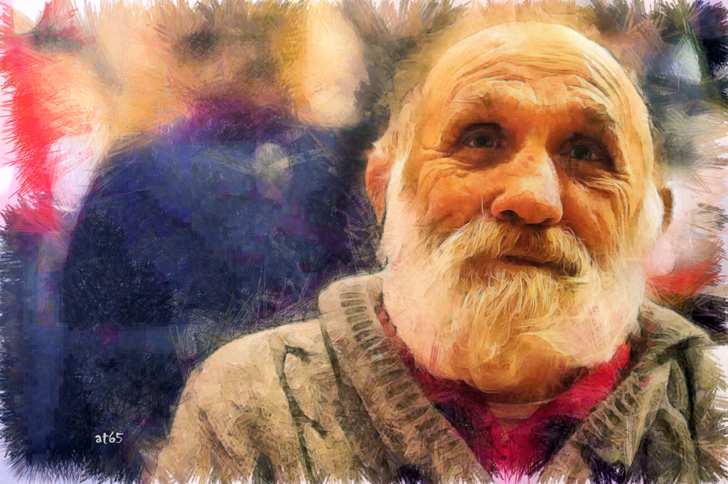 Poor old man